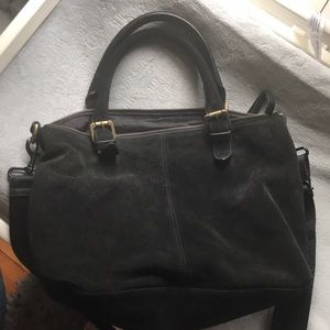 Black suede hobo bag from Urban Outfitters